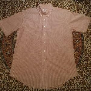 Brooks Brothers Short Sleeve Seersucker Shirt, M